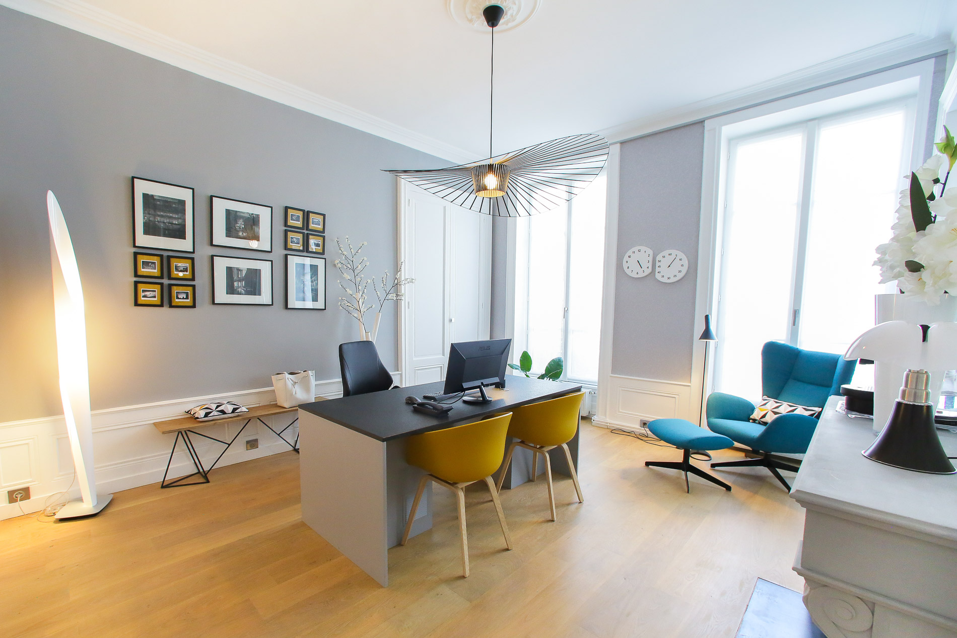 r novation appartement lyon 2 focus sur le bureau myriam wozniak. Black Bedroom Furniture Sets. Home Design Ideas