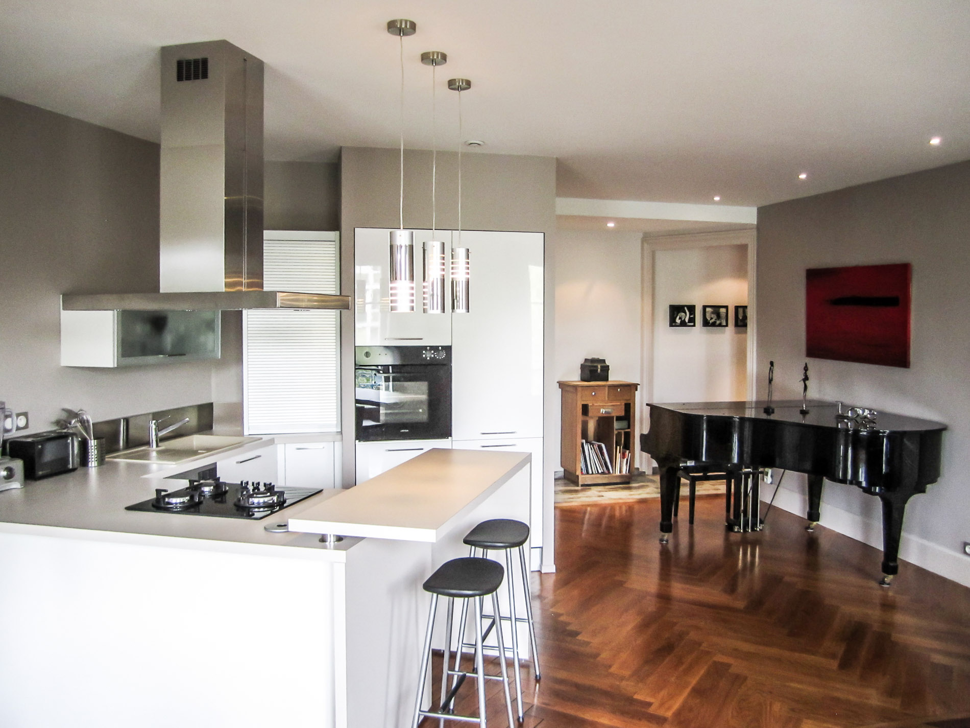 Agencement architecture int rieurs appartement ancien lyon for Cuisine ouverte dans appartement ancien