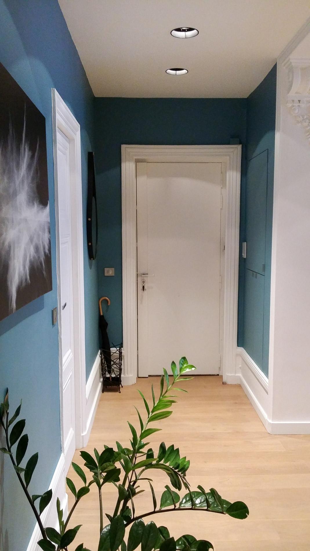 architecture d 39 int rieurs travaux r novation appartement lyon 2 am nagement couloir spot. Black Bedroom Furniture Sets. Home Design Ideas