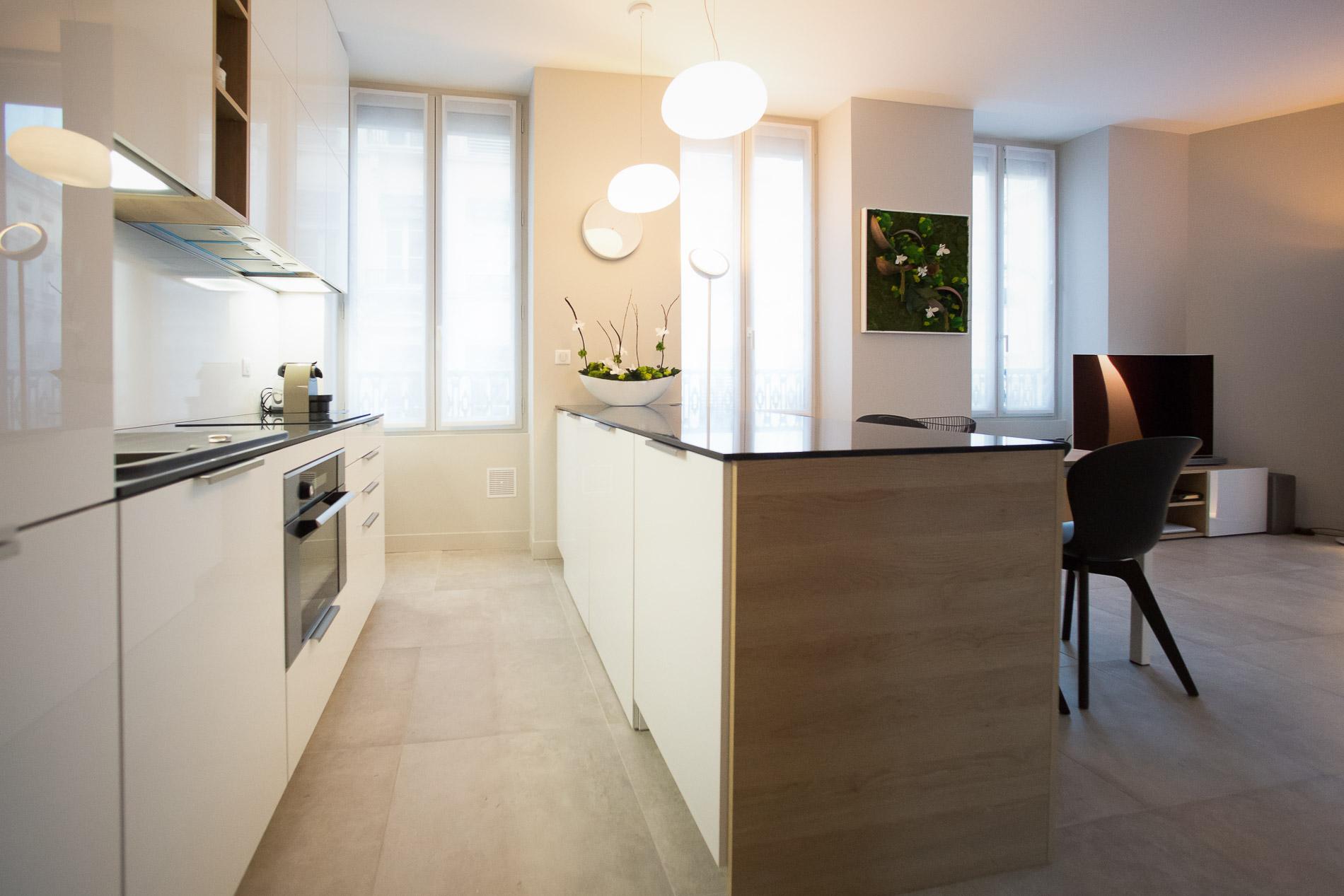 D coration architecture d 39 int rieurs appartement lyon 2 for Appartement design lyon